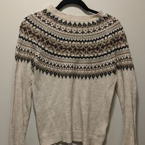 Patterned winter sweater from h&m